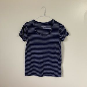 Navy and White Stripped MUDD Tee